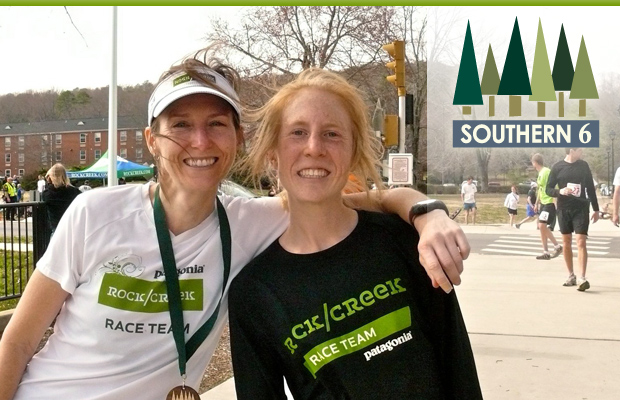 Cathi Cannona and Sarah Woerner from the Rock/Creek Race Team at the Southern6.  Photo by Deborah Martin